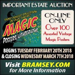 magic poster estate auction